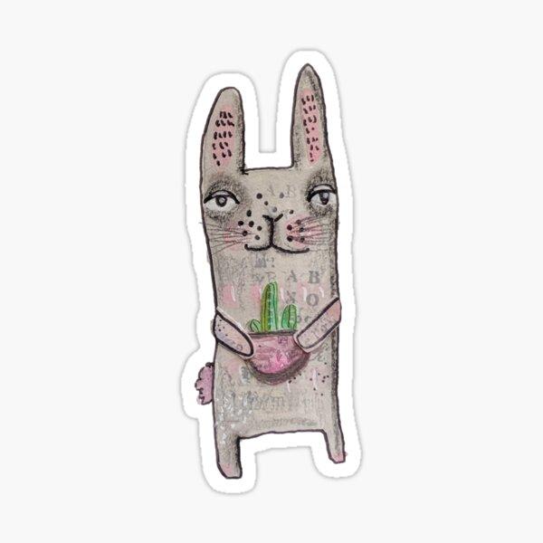 Rabbit with cactus Sticker