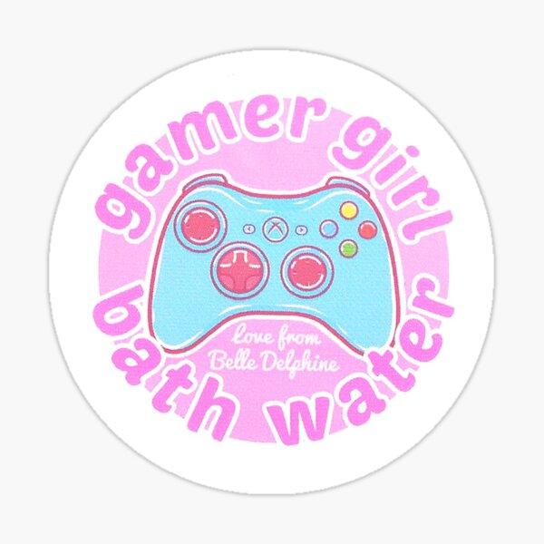 Gamer Girl Bath Water Sticker