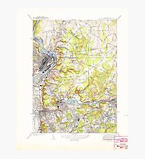 Massachusetts  USGS Historical Topo Map MA Springfield North 352209 1938 31680 Photographic Print