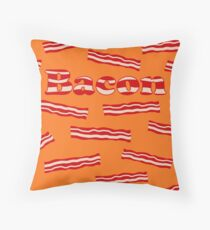 Yummy Bacon  Throw Pillow