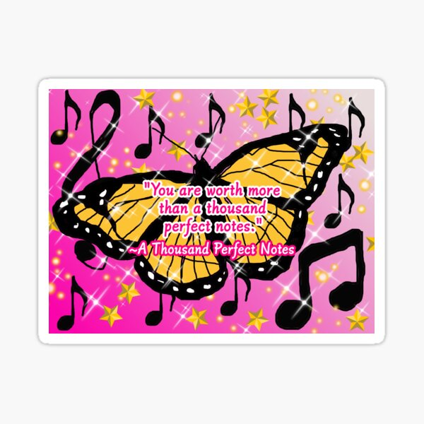 A Thousand Perfect Notes Quote Sticker