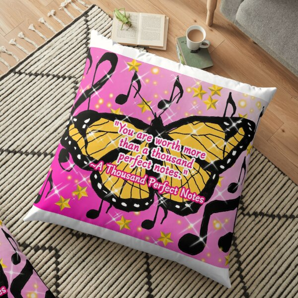 A Thousand Perfect Notes Quote Floor Pillow