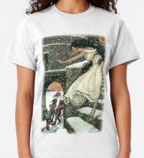 THE PRINCESS RAN WITH HER FEET ALL BARE OUT INTO THE OPEN from The Russian Story Book  Classic T-Shirt