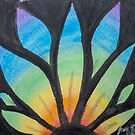 Stained Glass Flower Rising by Megan Pawlak