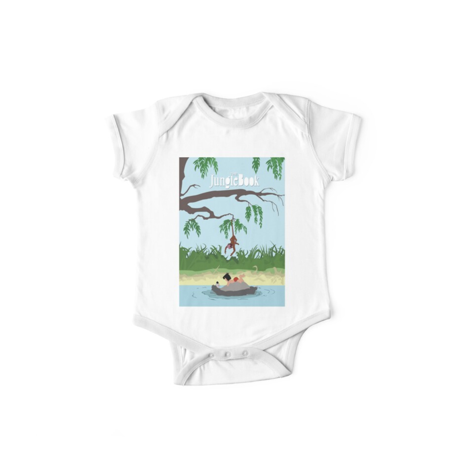 Jungle Book One Piece Short Sleeve By Evantapper Redbubble