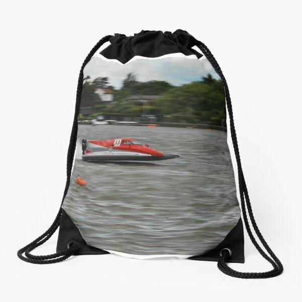 Powerboat Racing at Oulton Broad - Formula Grand Prix Drawstring Bag