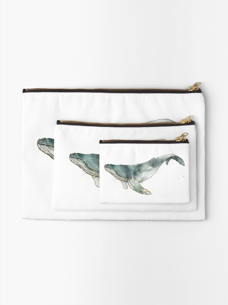 Alternate view of Humpback Whale Zipper Pouch