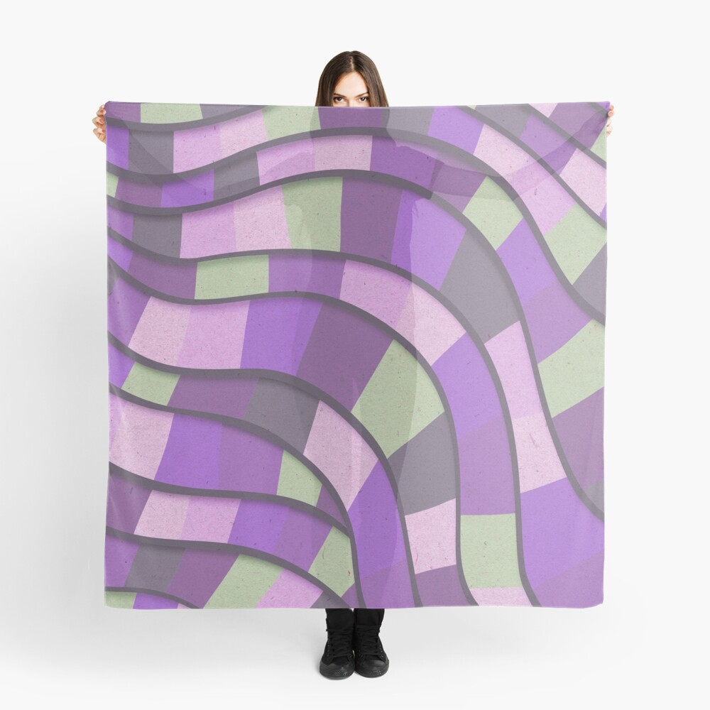 Rolling Wave Abstract 2 Scarf Front