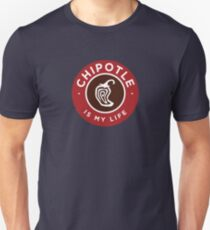 Chipotle Is My Life Logo Slim Fit T-Shirt