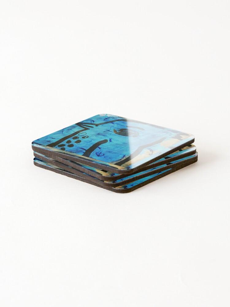 Alternate view of Blue bird angel Coasters (Set of 4)