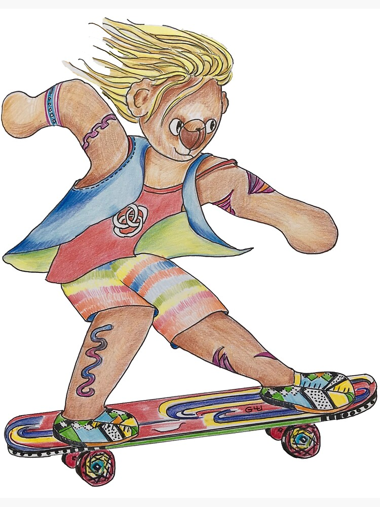 Skater Boy Bear by GalleryGiselle