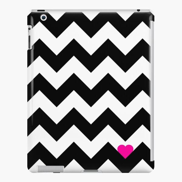 Heart & Chevron - Black/Pink Coque rigide iPad