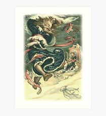 THE WATER TSAR DANCES from the story VASILY THE TURBULENT in The Russian Story Book Art Print