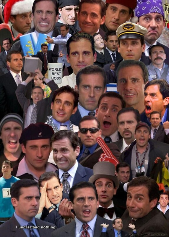 The many faces of michael scott by acidictoast redbubble - Michael scott wallpaper ...