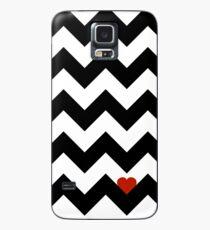 Heart & Chevron - Black/Classic Red Case/Skin for Samsung Galaxy