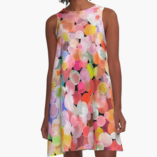 Candy watercolor dots A-Line Dress