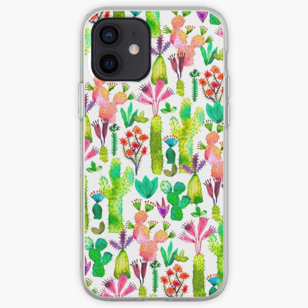 Cacti garden iPhone Soft Case
