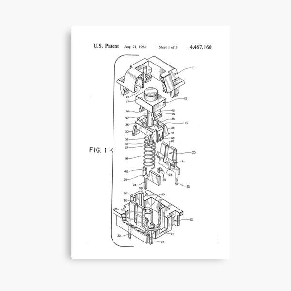 Cherry MX Patent Canvas Print