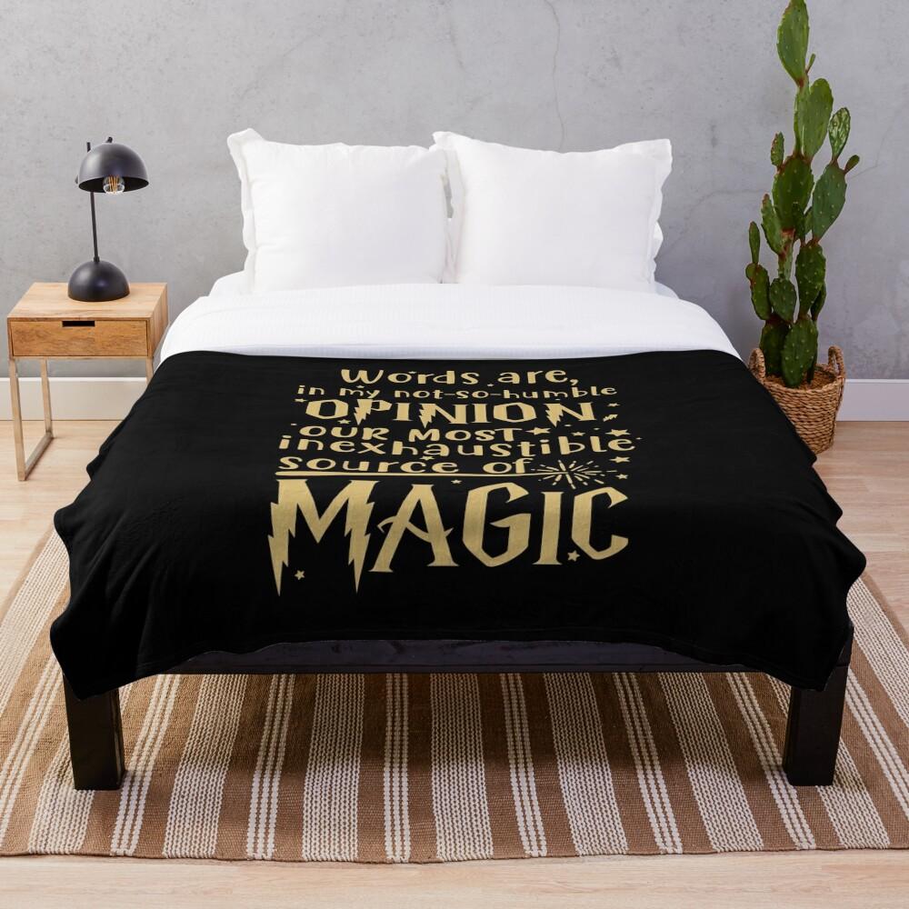 Inexhaustible source of magic Throw Blanket