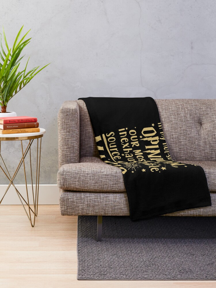 Alternate view of Inexhaustible source of magic Throw Blanket