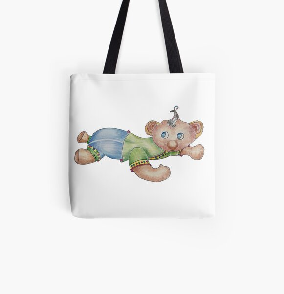 Baby Bear All Over Print Tote Bag
