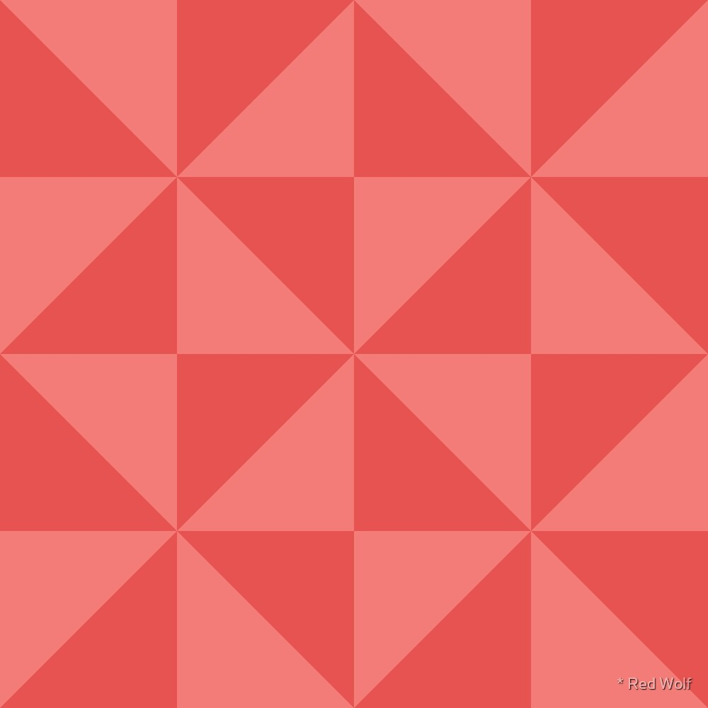 Geometric Pattern: Square Triangle: Light Red by * Red Wolf