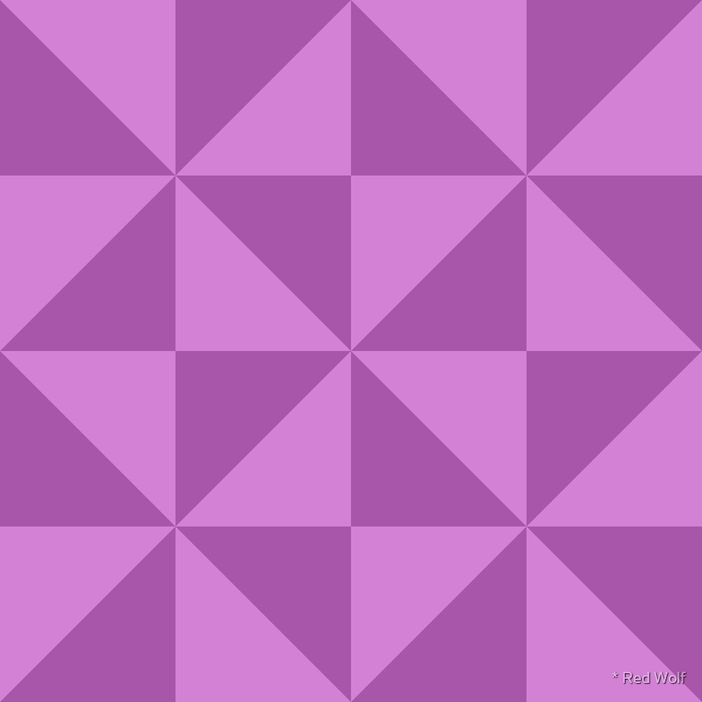 Geometric Pattern: Square Triangle: Light Purple by * Red Wolf