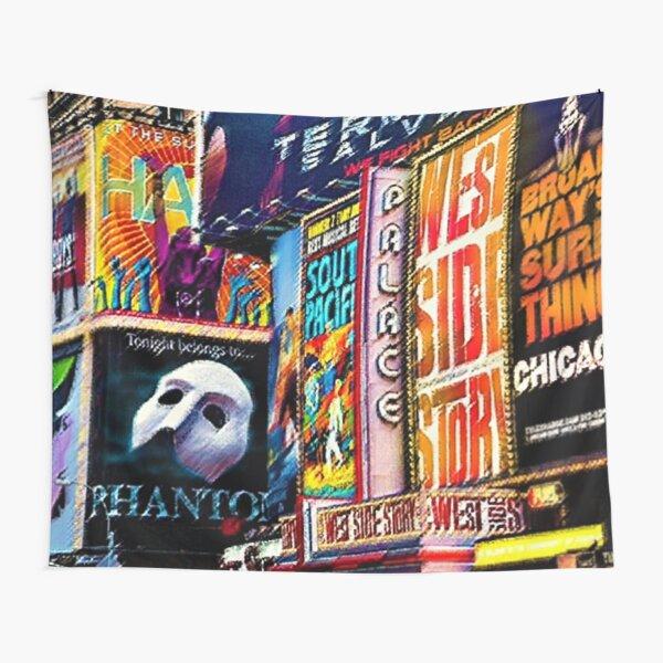 The Great White Way – Broadway, NYC #2 Portrait – Jéanpaul Ferro Tapestry