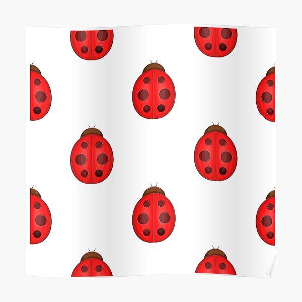 Ladybug design - spring pattern Poster