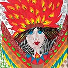 Chicomecoatl - Aztec Goddess of Hearth and Harvest by LauriAnnLumby
