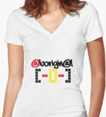 @borigin@l [-0-] Women's Fitted V-Neck T-Shirt