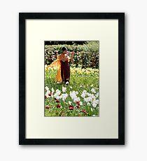 Sari Framed Print