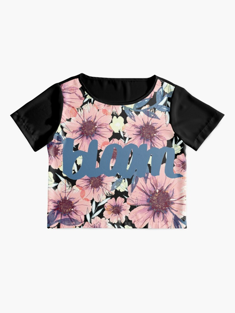 Alternative Ansicht von Romantik Blümiger Muster grau, rosa, blau Chiffon Top