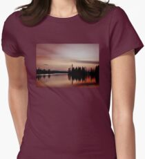 Pink Sunset, Manitoba Women's Fitted T-Shirt
