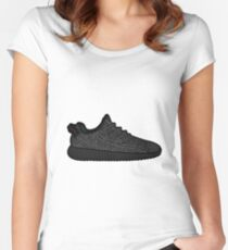 Yeezy 350 Boost Black Women's Fitted Scoop T-Shirt