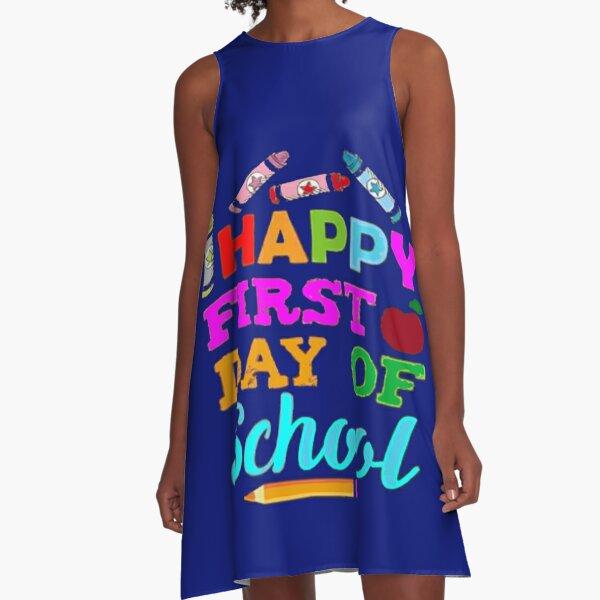 Happy First Day Of School Shirt Teacher Students  A-Line Dress
