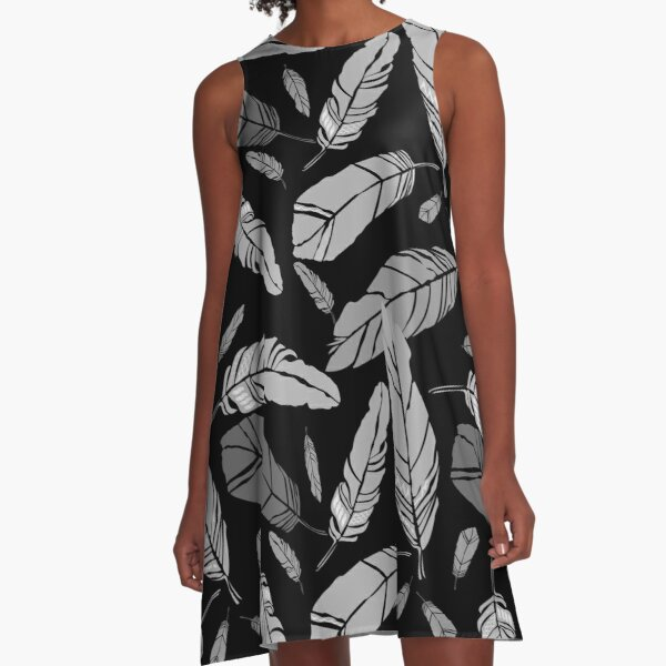 Feather A-Linien Kleid