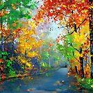 Autumn Trees 2 by EMBlairArtwork