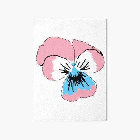 Transgender Pride Flower Art Board Print