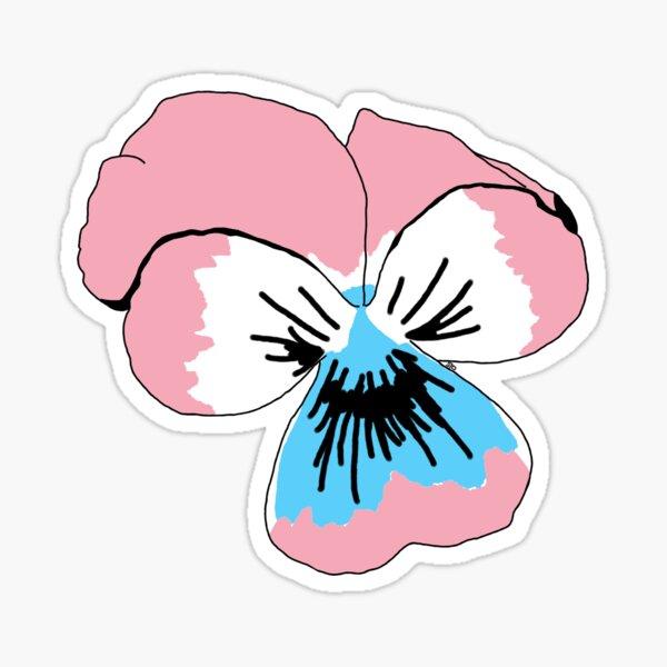 Transgender Pride Flower Sticker