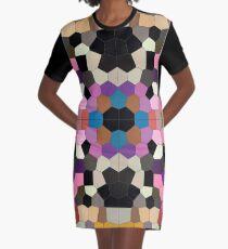 BENG MOSAIK PATTERN KUNTERBUNT ABSTRAKT T-Shirt Kleid