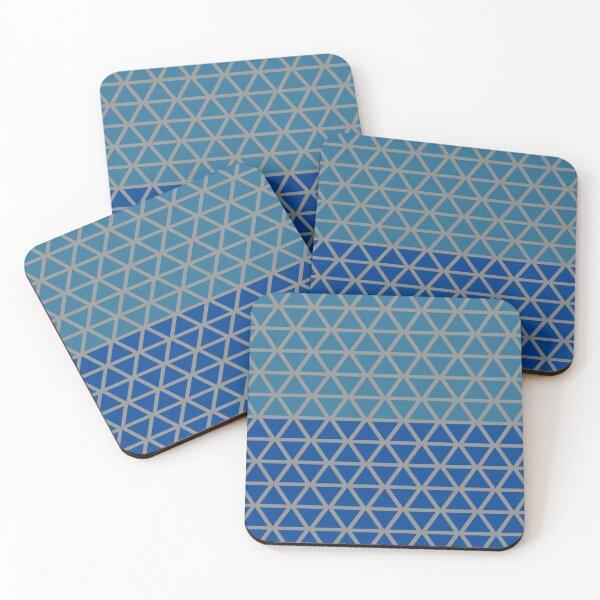 Trokut (Blues) Coasters (Set of 4)