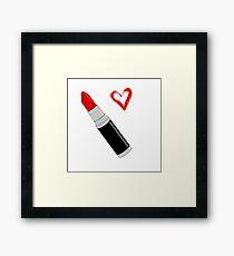 Red Lipstick Framed Print