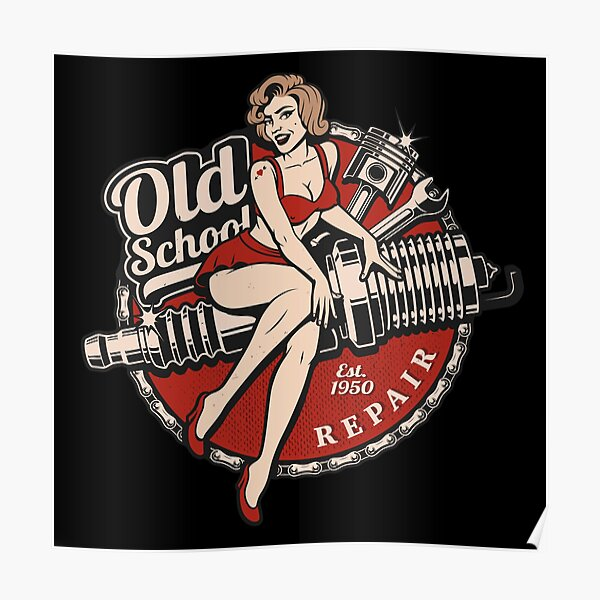 Old School Pinup   Poster