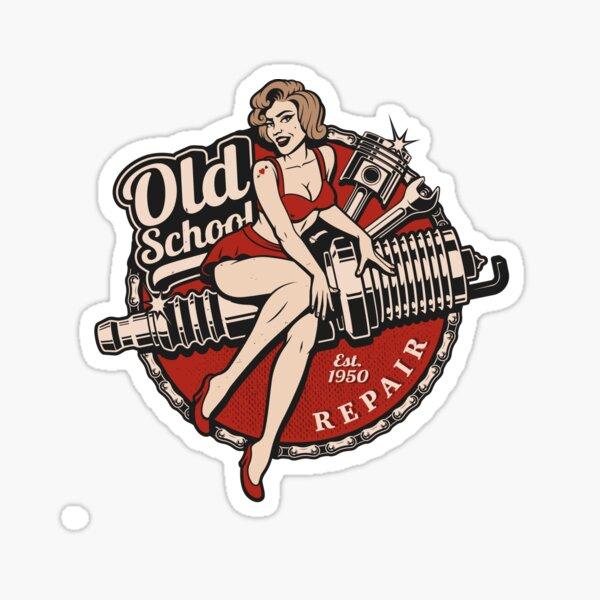 Old School Pinup   Sticker