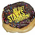 "Donut Shirt, ""My Diet Starts Tomorrow!"" by M. I. Speer"