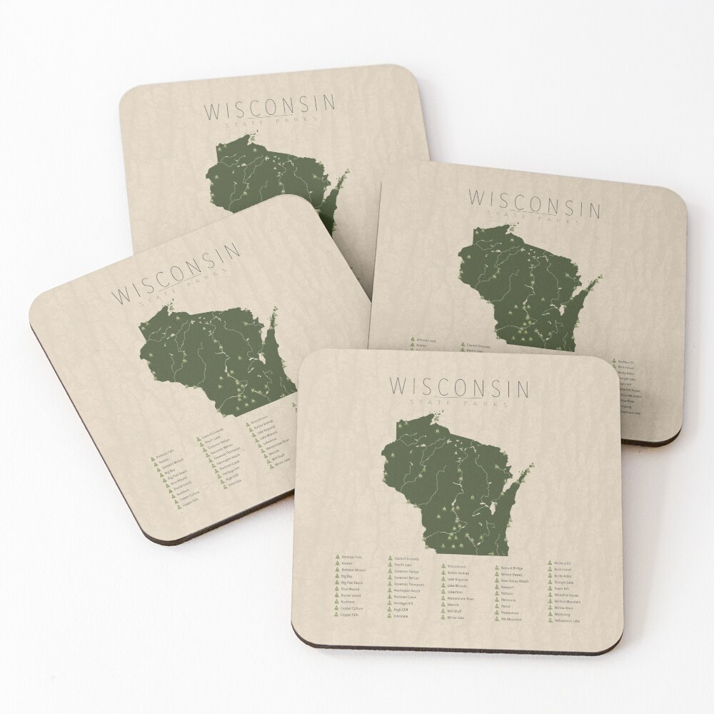Wisconsin Parks Coasters (Set of 4)