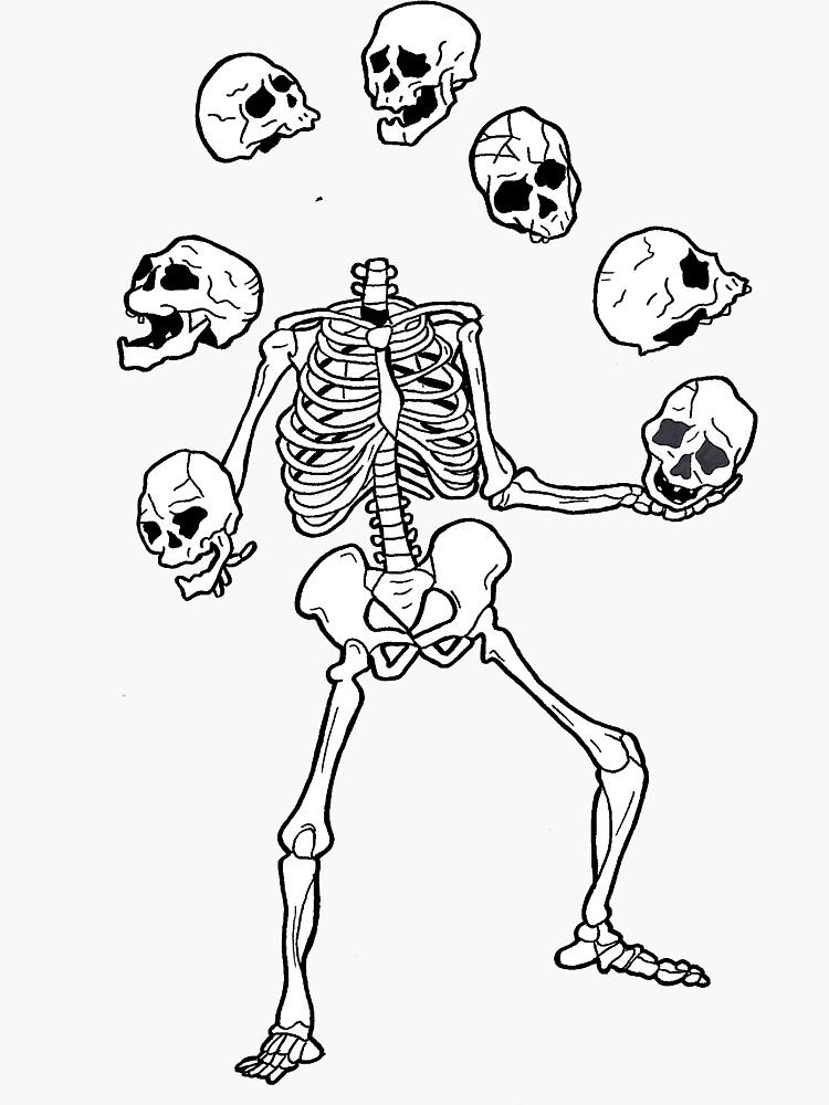 juggle skulls by AshCard