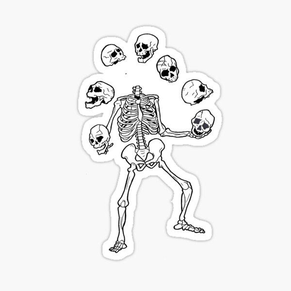 juggle skulls Sticker
