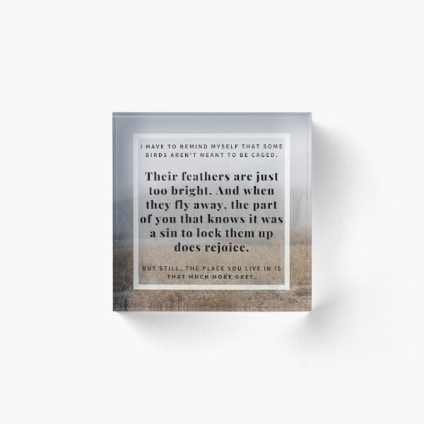 Winter Fog Quotation (Shawshank Redemption) Acrylic Block